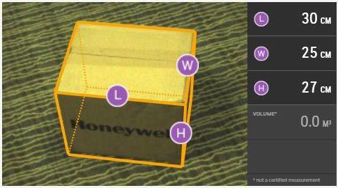 Измеритель габаритов Honeywell Autocube 8200 окно